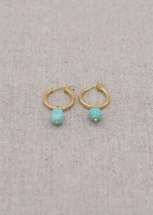 MINI CREOLES + Amazonite