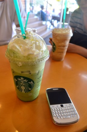 What about a Starbucks green tea latte?