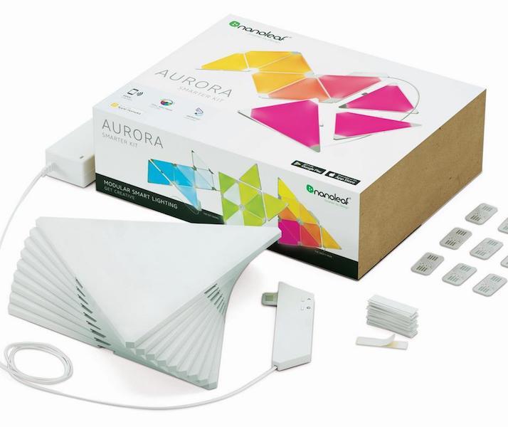Hier sehen sie das Nanoleaf Auora Smarter Kit