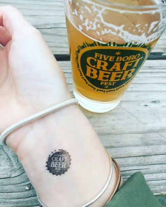 Five Boro Craft Beer Fest really left a mark on me...