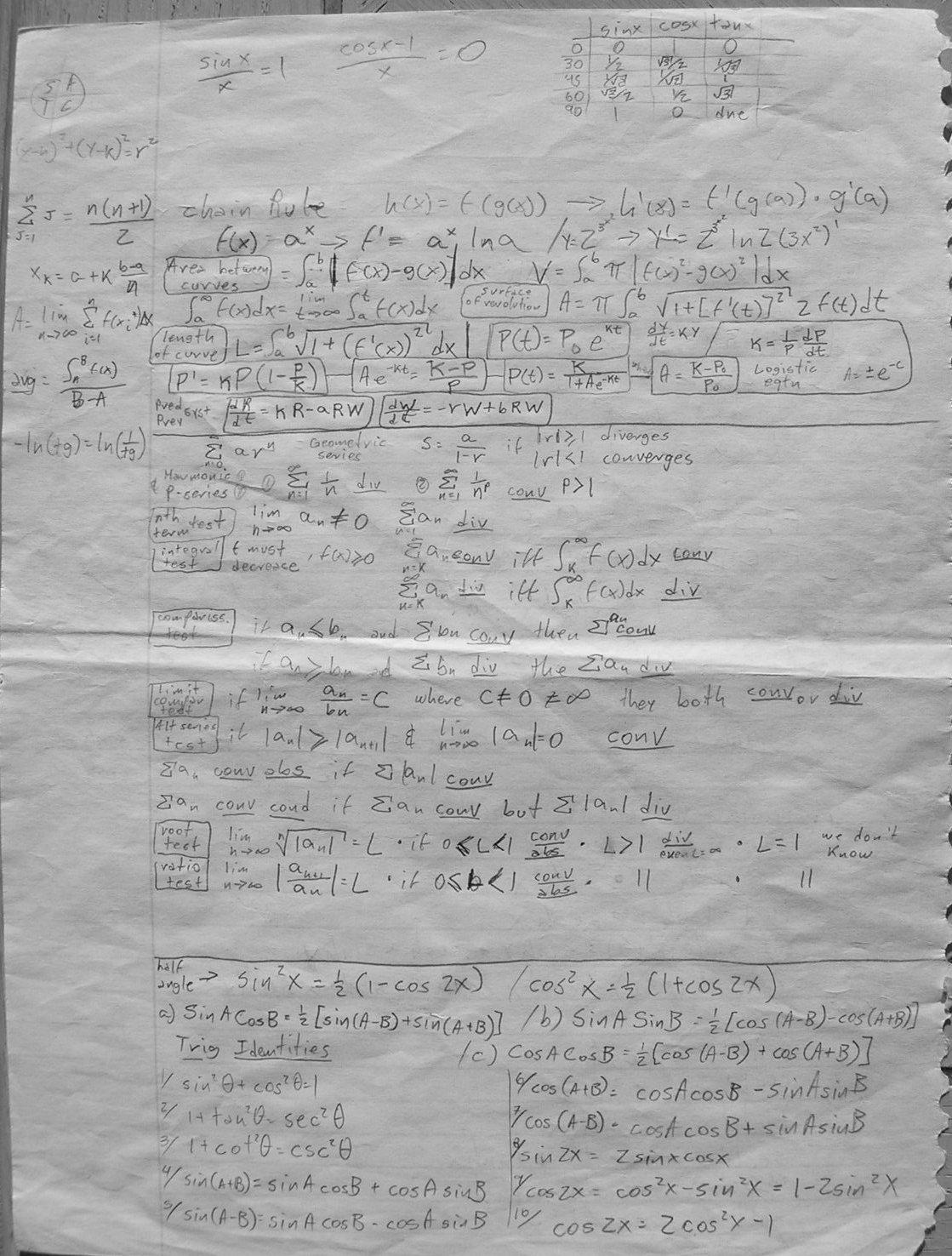 Situational Physics Cheat Sheet 2 | Wiring Diagram Database
