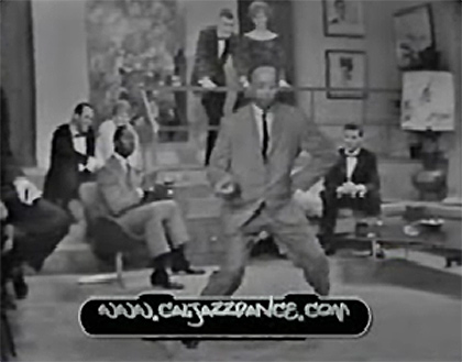 extraordinary gifted swing dancers from some black-and-white TV show set