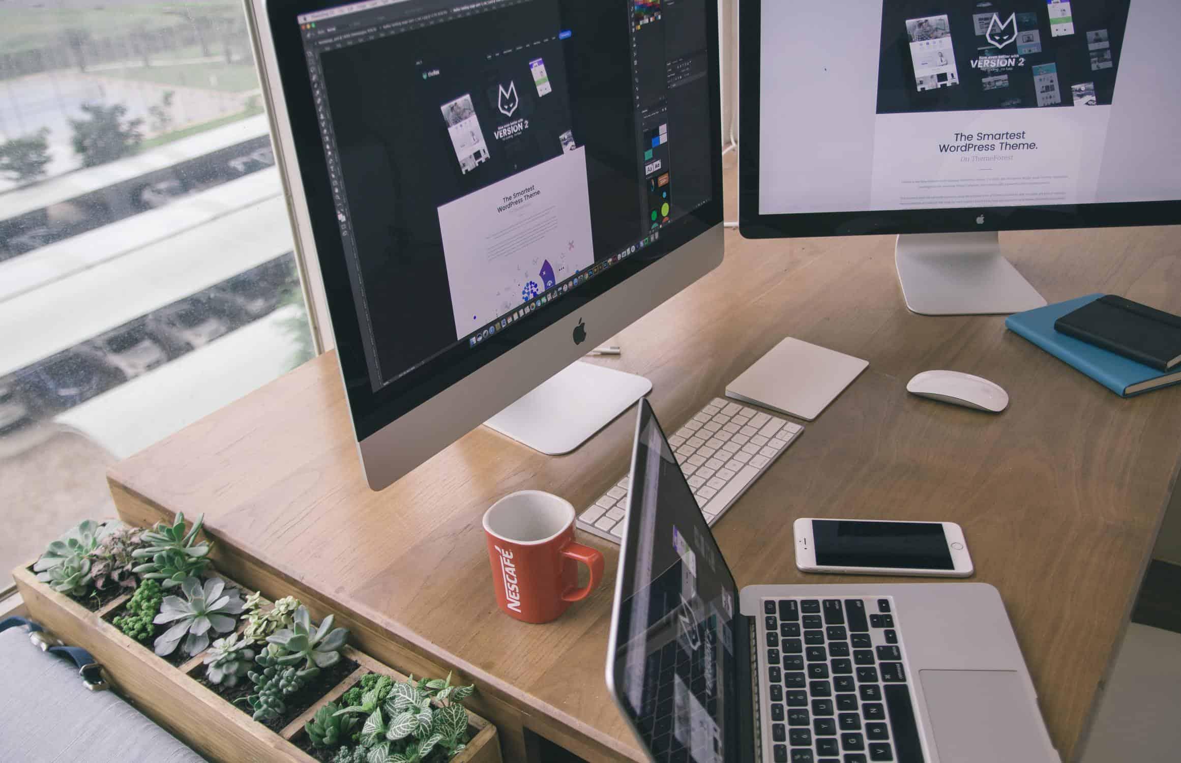 Hidden WordPress Gutenberg Features Header Image Of Laptop And Computer Monitors On Desk