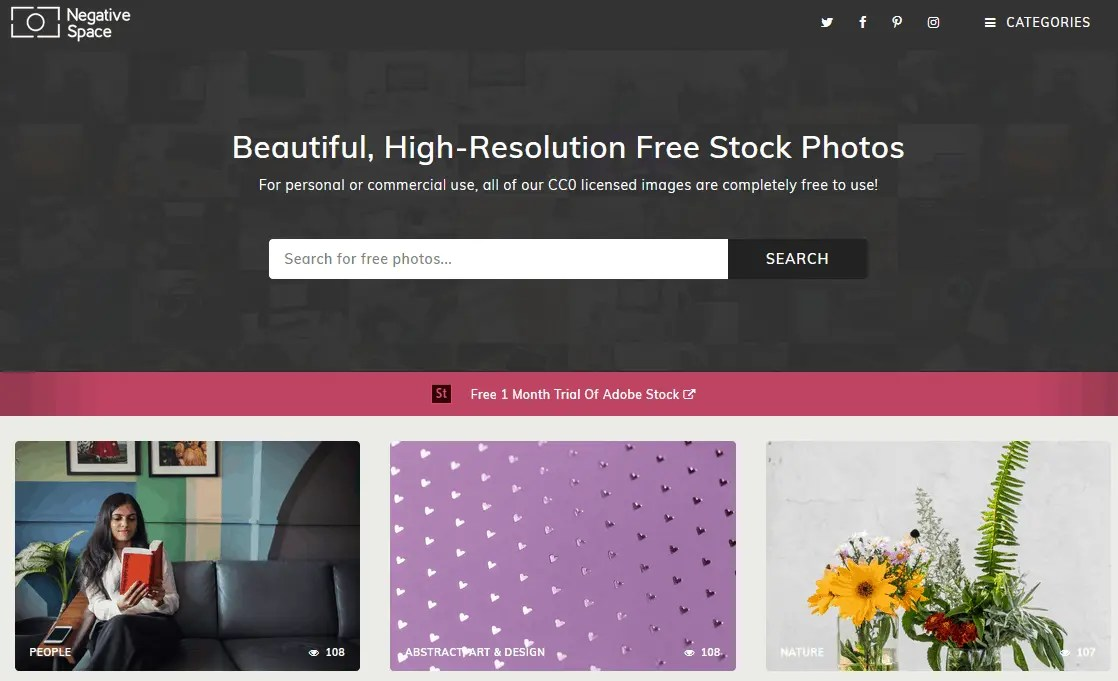 Free Stock Images For Bloggers Using The Negative Space Website