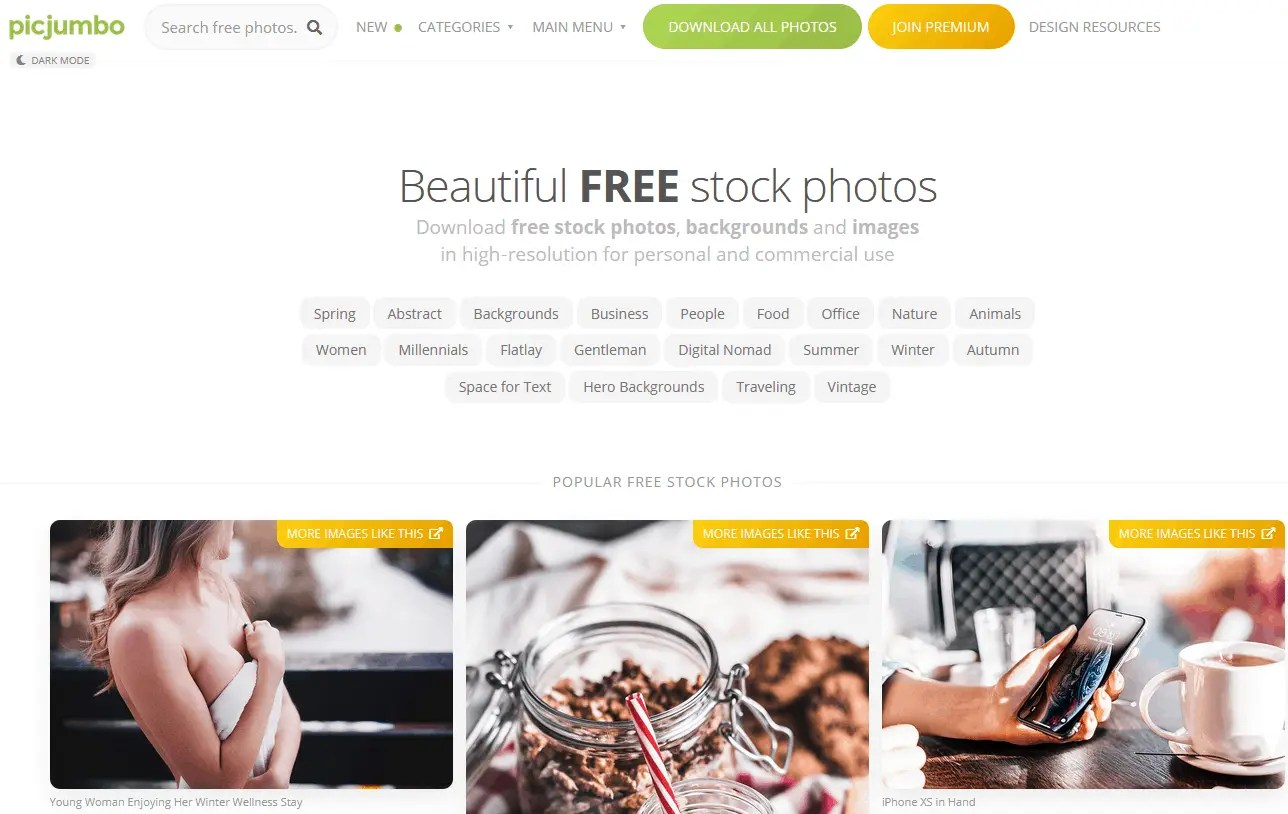 Free Stock Images For Bloggers Using The Picjumbo Website