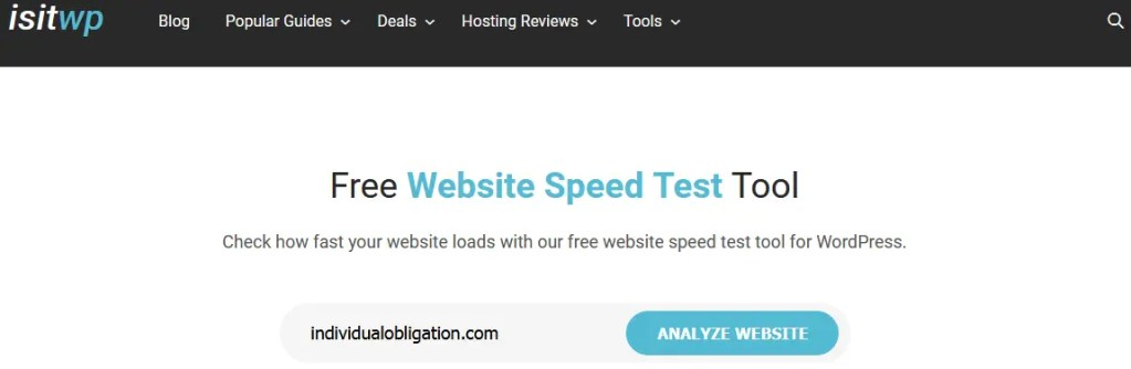 How To Use The Isitwp Website Speed Test Tool To Analyze Your Blog