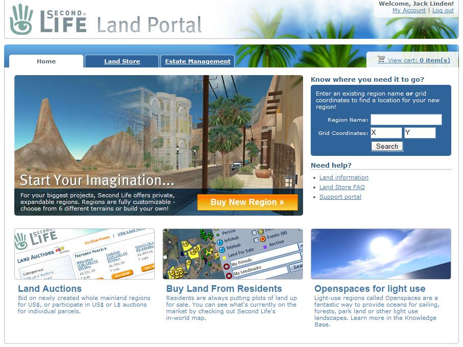 Land Portal Page