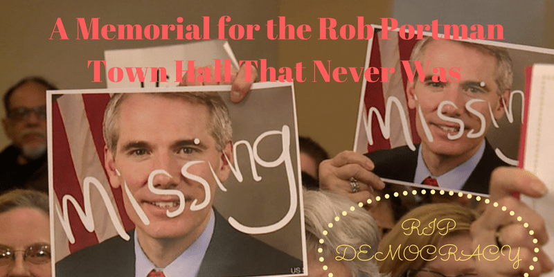 A Memorial for the Rob Portman Town Hall that Never Was