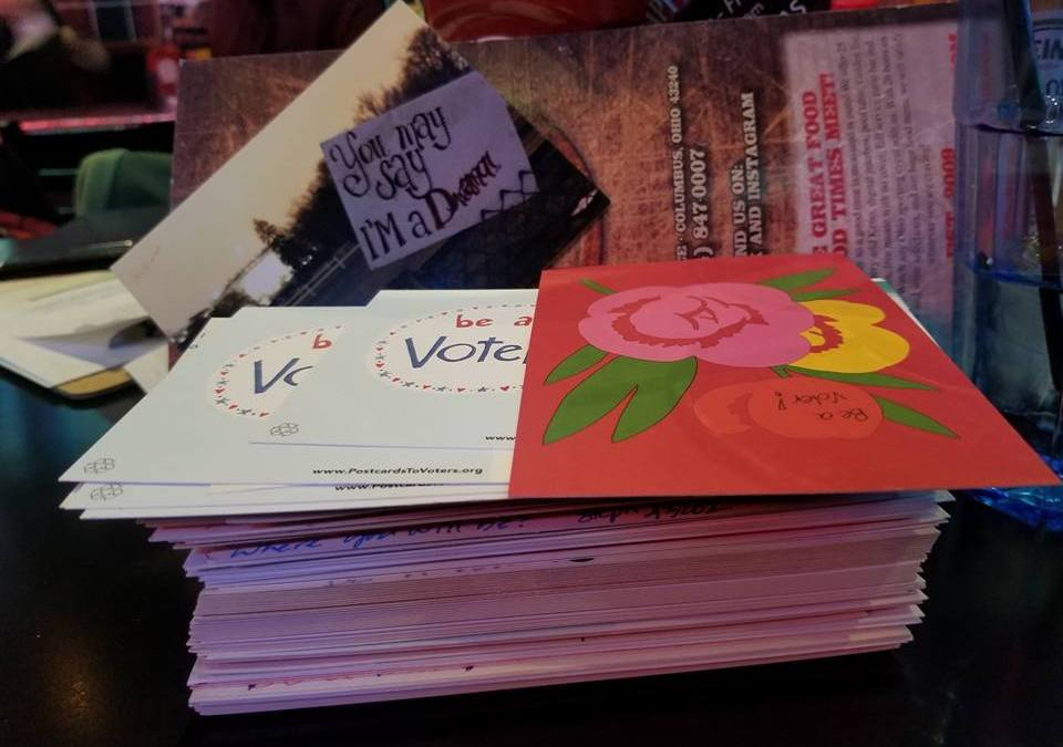 Indivisible OH12 February Postcard Party and Happy Hour