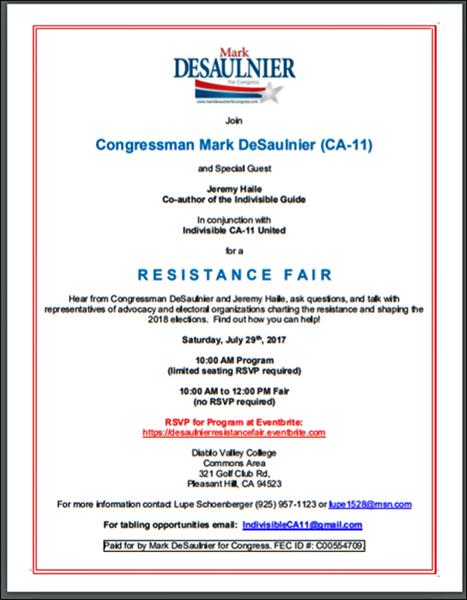 DeSaulnier Resistance Fair