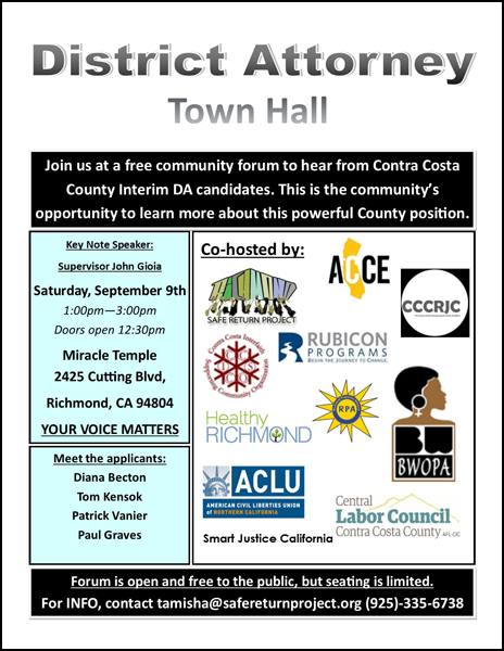 District Attorney Town Hall