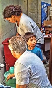 Tiffany, Lucas & George making ice cream at the #StopKavanaugh AMM