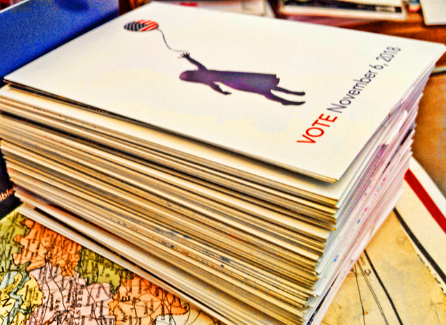 200+ postcards in support of Audrey Denney in CA-1
