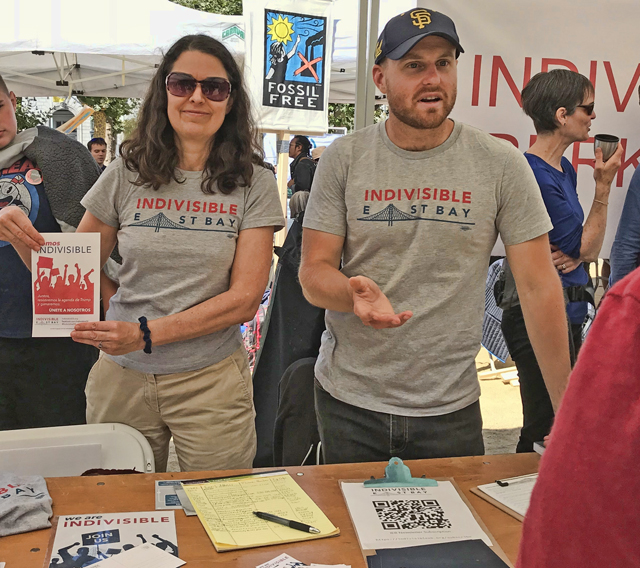 Rise for Climate Jobs + Justice, IEB GC members Nancy Latham and Nick Travaglini