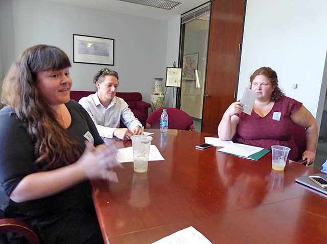 IEB Feinstein office visit. Photo credit: Catya de Neergaard