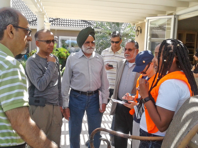 Canvassing in Manteca. Photo by Mandeep S. S. Gill