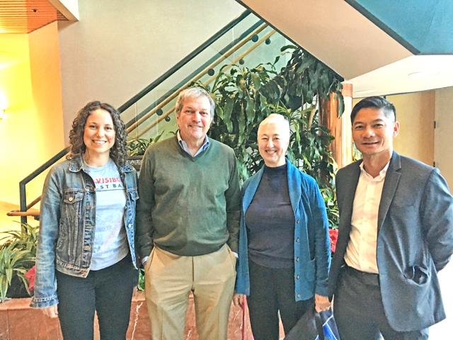 CA-11 team members Kristen, Toni, and Ted, meet with Rep DeSaulnier