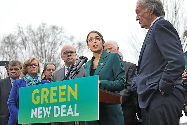 Green New Deal presser, photo by Senate Democrats