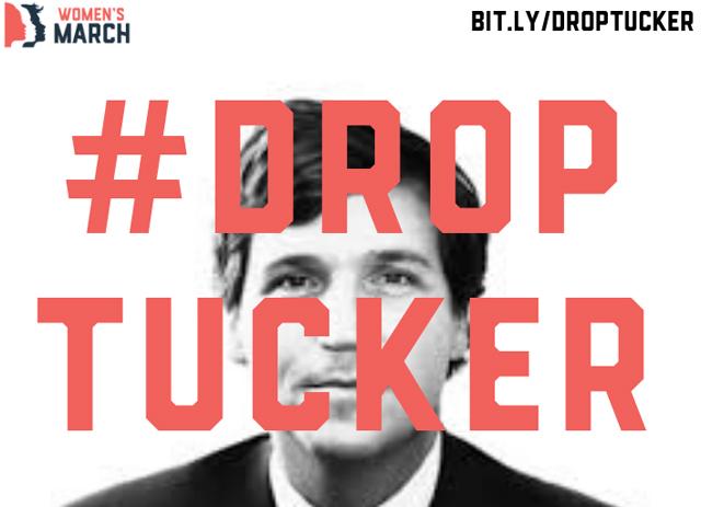 #Drop Tucker, graphic © Women's March