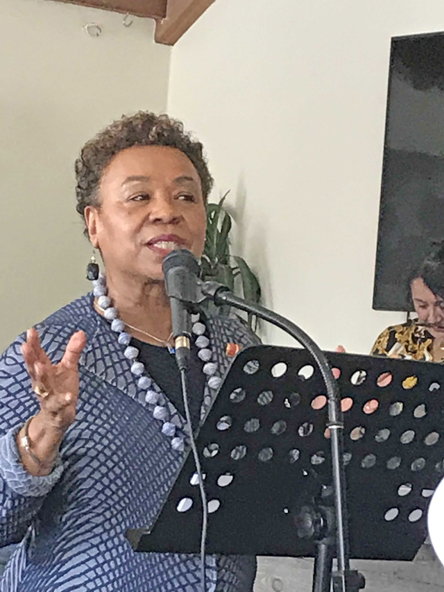 Rep. Barbara Lee at Coffee & Conversation in Oakland
