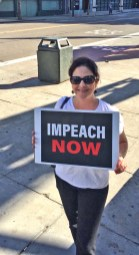 Impeachment rally at Speaker Pelosi's office, photo by Katie Cameron