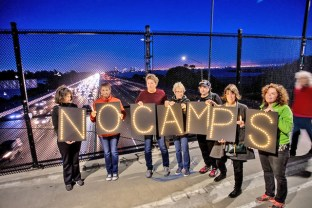 Lights for Liberty vigil, Berkeley, photo by Wes Chang