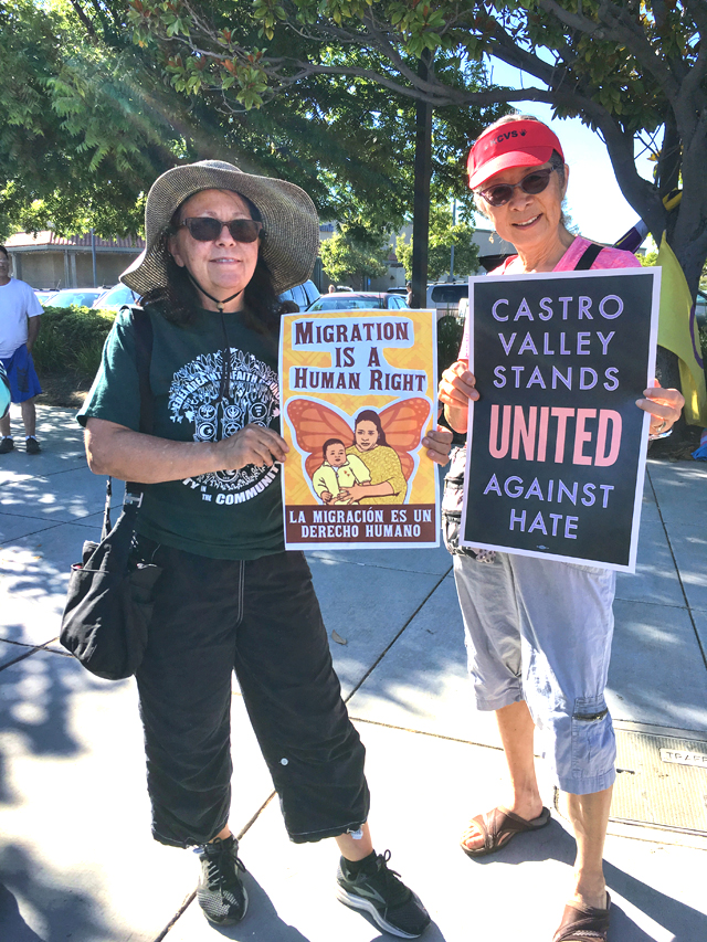Lights for liberty vigil, Castro Valley, photo by Andrea Lum