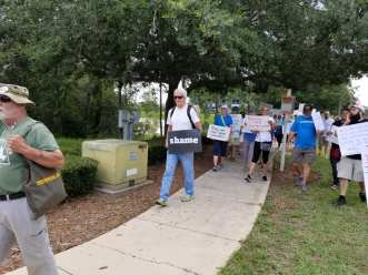 March on Jax ICE office, June 30, 2018.