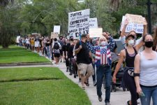 Thousands marched through the San Marco area just south of downtown to call for police accountability and racial justice. Jacksonville, Florida, 6-3-2020.
