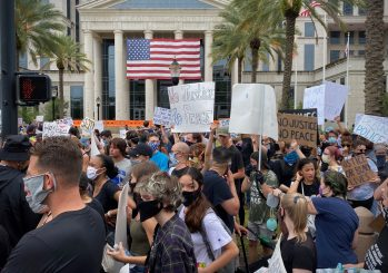This is what democracy and diversity looks like. A scene from the protest for social justice and police accountability at the Duval County Courthouse. Jacksonville, Florida, 6-6-2020.