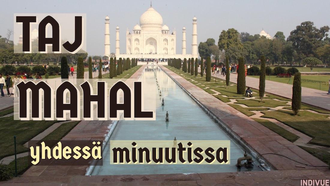 Taj Mahal Intian Agrassa aurinkoisena päivänä