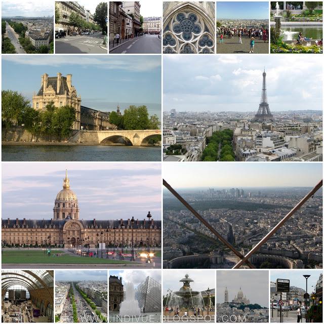 Pariisin parhaimmat nähtävyydet Indivuen kuvaamana