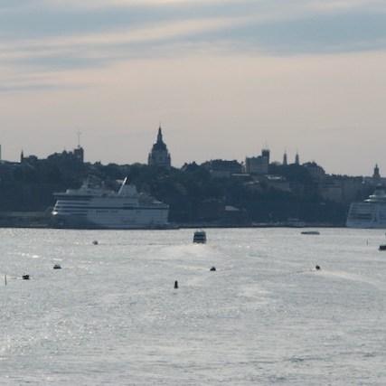 Laivoja Tukholman satamassa
