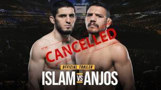 islam makhachev vs dos anjos dibatalkan
