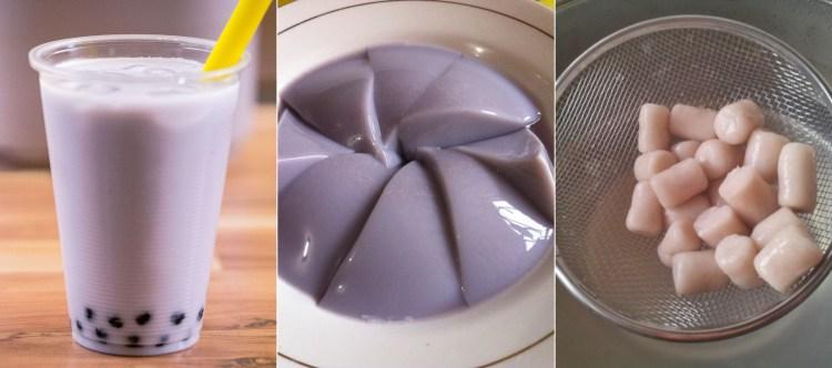 Taro dishes