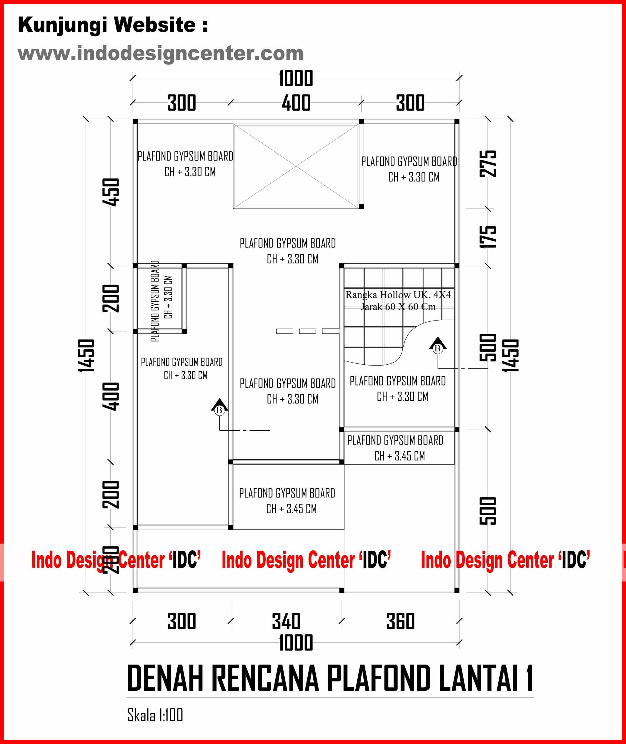 035Denah Rencana Plafond Lantai 1 1jpg
