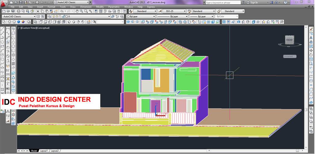 Hasil Kursus CAD 2D & 3D Pak Rudi Cibaduyut Bandung Jawa Barat (3)