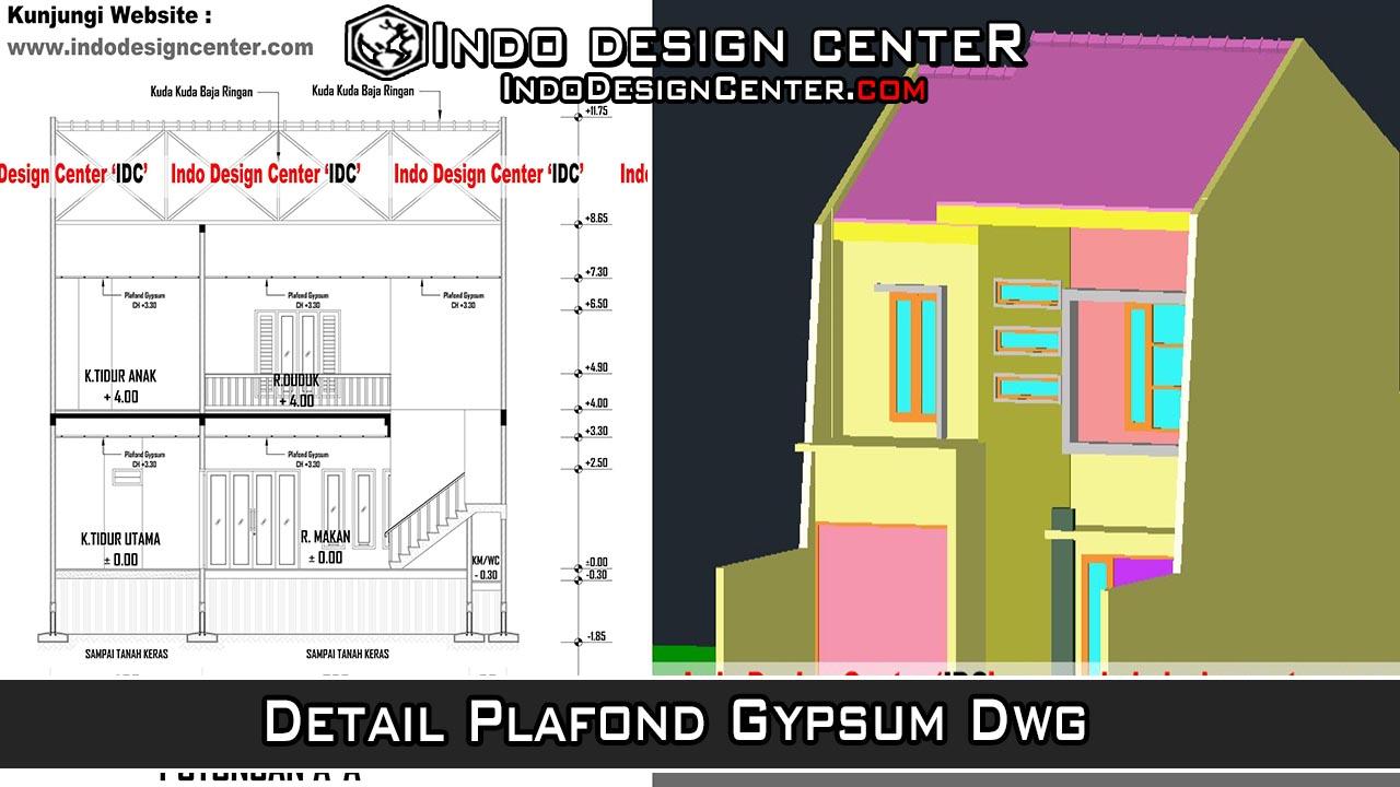 Detail Plafond Gypsum Dwg Download Kumpulan Gambar Kerja AutoCAD