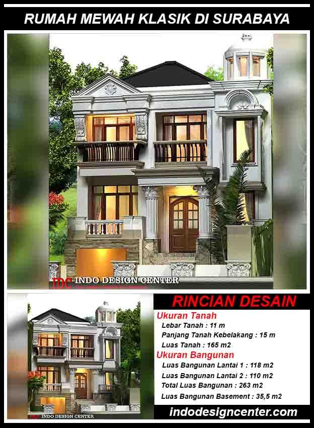 Jasa Desain Rumah Mewah Klasik Surabaya