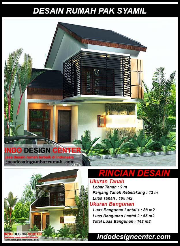 Desain Rumah Minimalis Pak Syamil Di Jakarta Timur