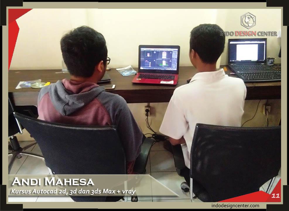 Kursus AutoCAD 2D, 3D dan 3Ds Max + Vray Andi Mahesa di Bandung