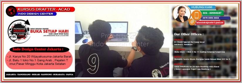 Tempat Kursus AutoCAD Di Tanah Tinggi - Jakarta - Tangerang - Bekasi - Bandung - Surabaya