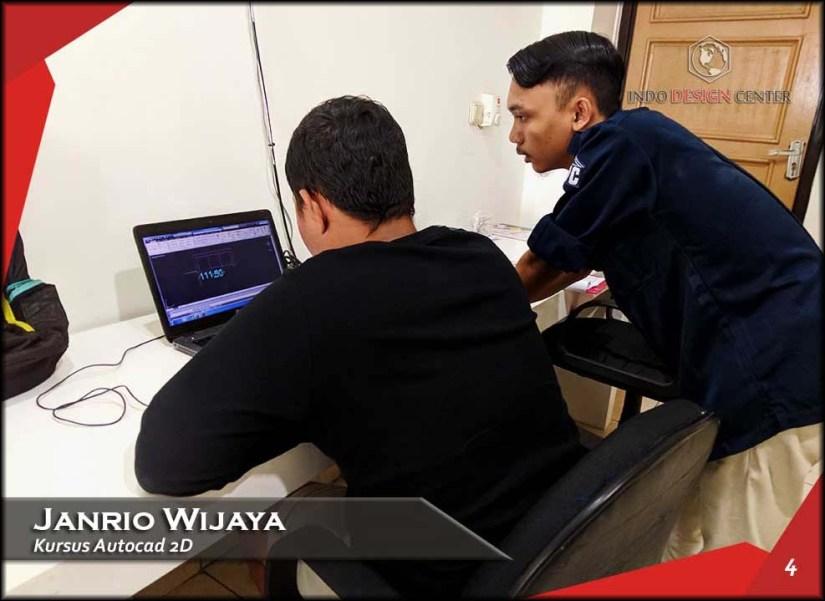 Kursus AutoCAD 2D Pak Janrio Wijaya Indo Design Center Tangerang (4)