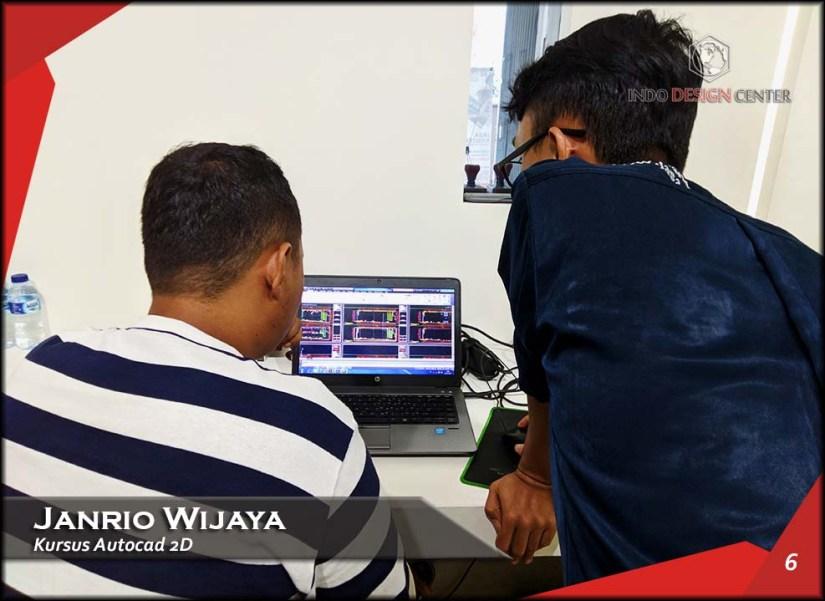 Kursus AutoCAD 2D Pak Janrio Wijaya Indo Design Center Tangerang (6)