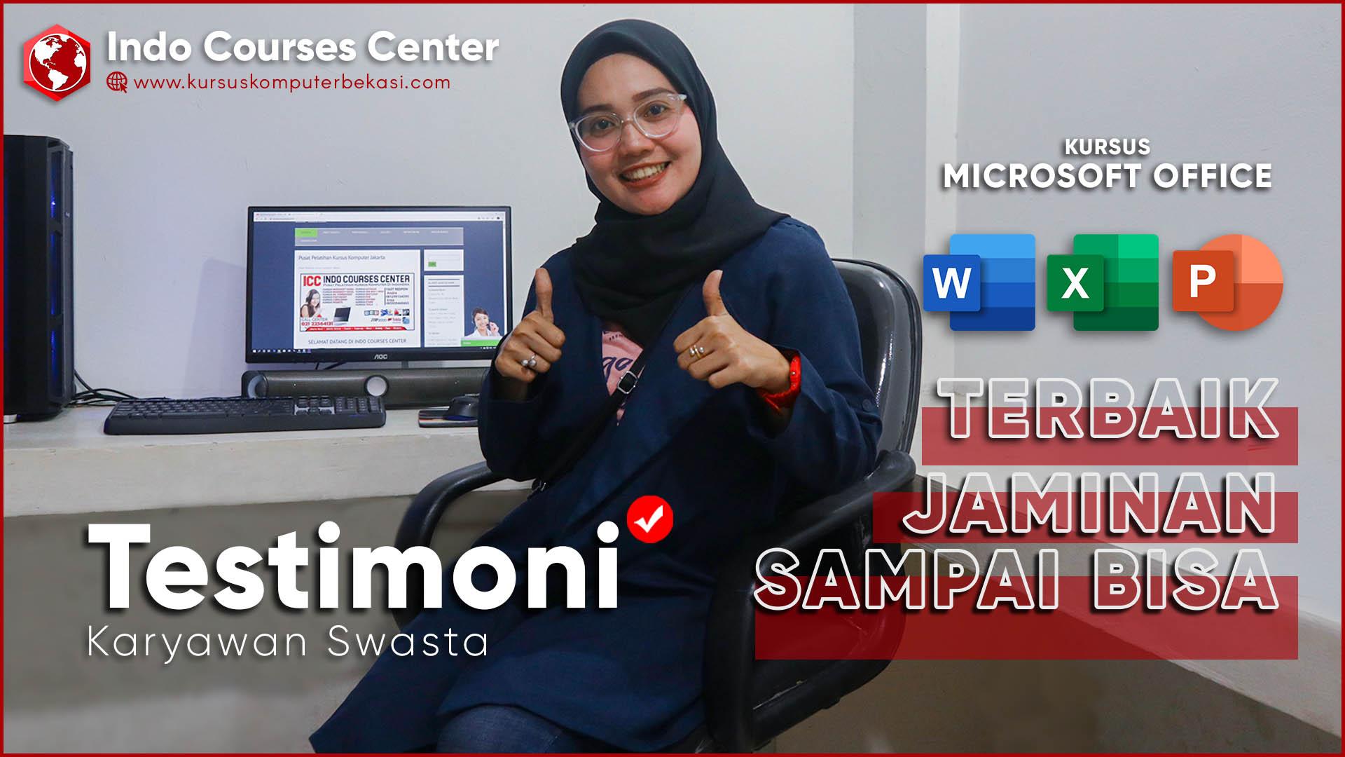 Kursus Microsoft Office Terbaik Di Indonesia JAMINAN SAMPAI BISA @Testimoni Karyawan Swasta