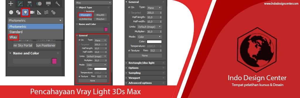 Pencahayaan Vray Light 3Ds Max