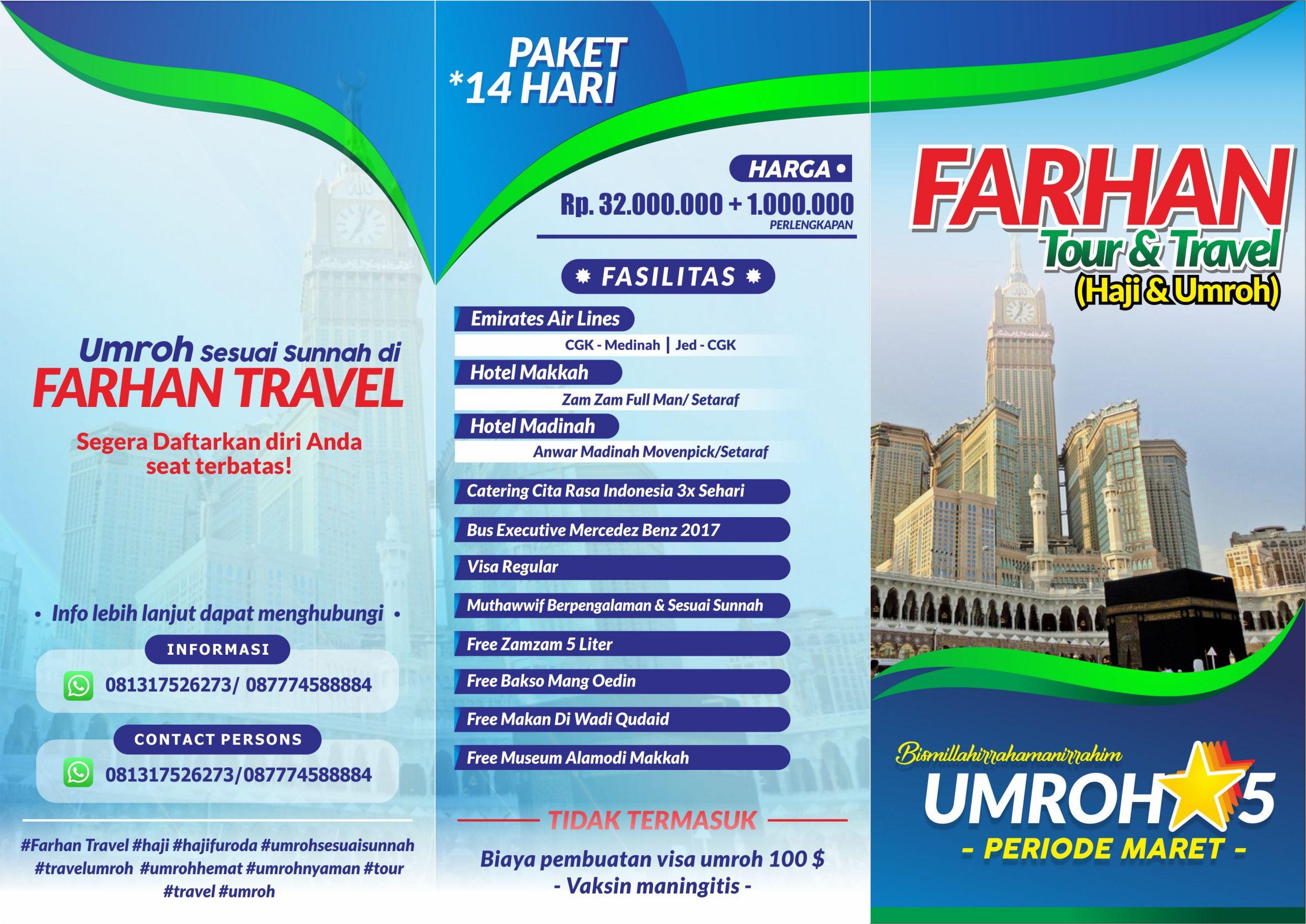 Brosur Farhan Tour 2