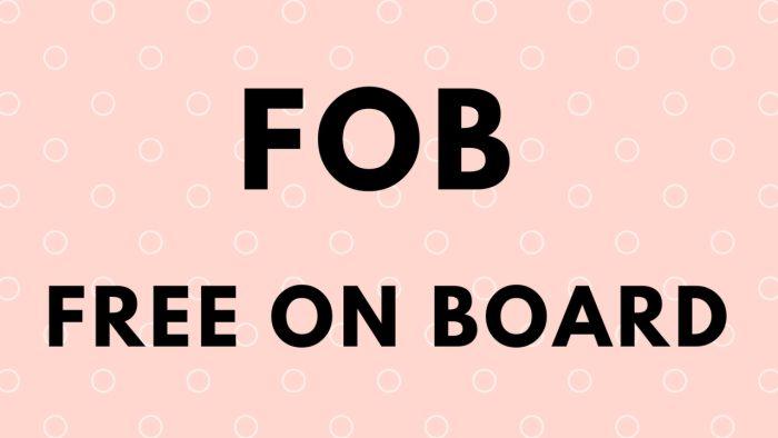 konsep dasar dari FOB
