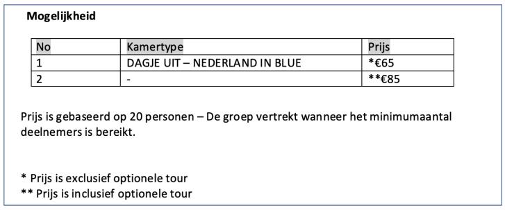 PRIJS nederland in blauw
