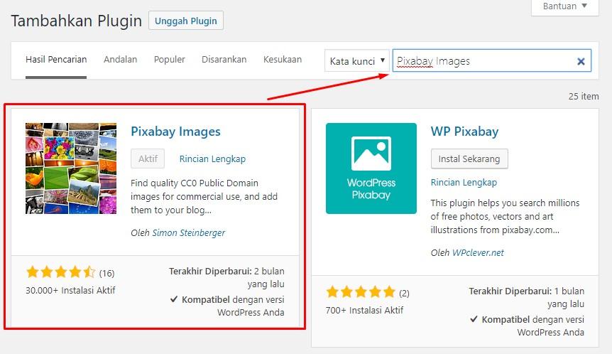 instal-plugin-Pixabay Images